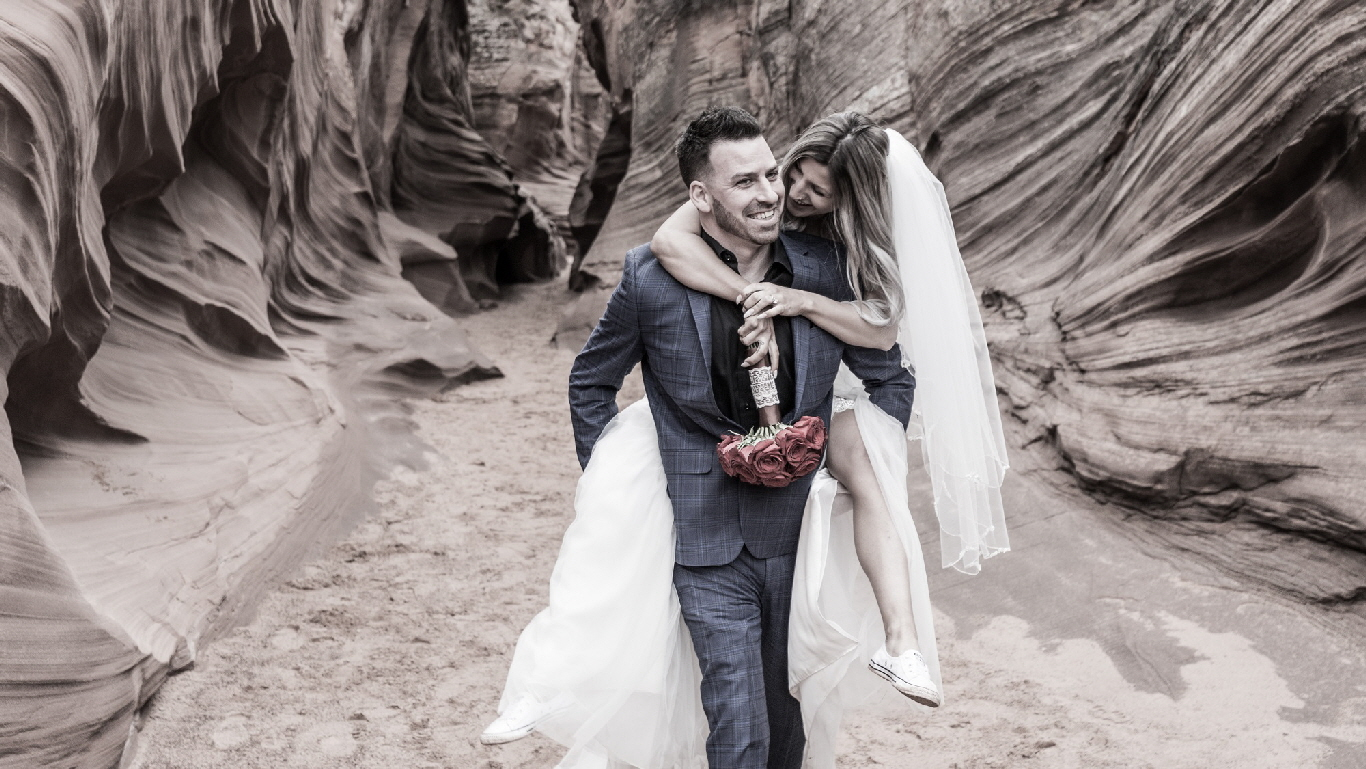 Slot Canyon Wedding 2000